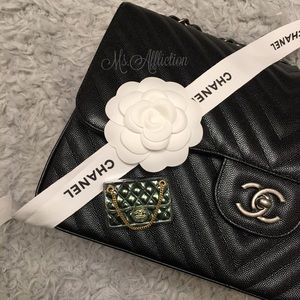 CHANEL Authentic CC Classic Flap Bag Brooch NWT